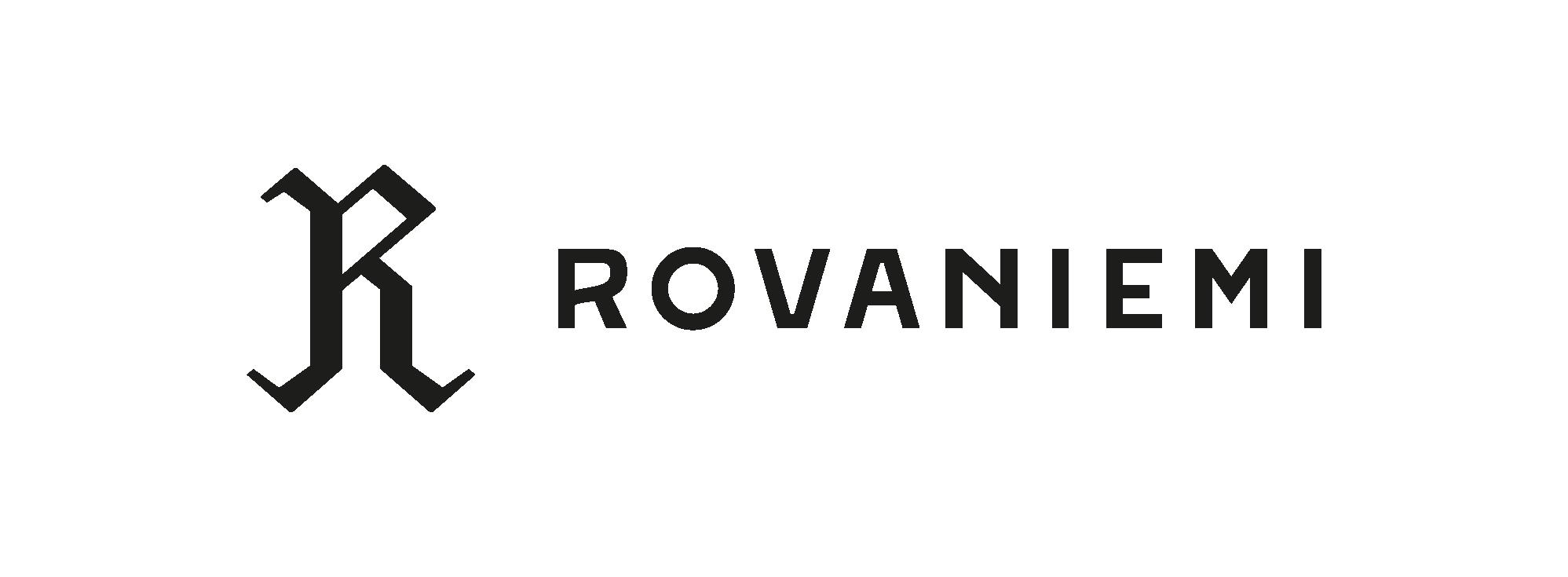 Rovaniemi-logo-musta-vaaka