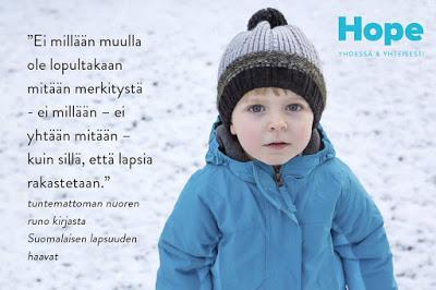 Pieni poika ja Hope-yhdistyksen tunnus